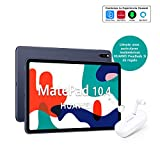 HUAWEI MatePad 10.4 - Tablet con Pantalla FullView 10.4' (WiFi, 4GB RAM, 64GB ROM, Altavoces cuádruples, HUAWEI Kirin 810 7nm, Batería de 7250 mAh), Color Gris + HUAWEI Freebuds 3i Blanco
