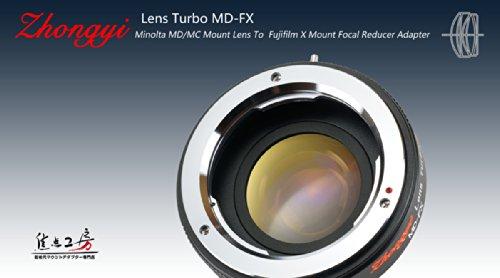 【日本国内正規品】Lens Turbo ミノルタMD・MC・SRマウントレンズ-富士フィルムXマウントフォーカルレデューサーアダプター MD-FX