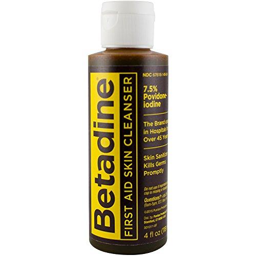 Betadine Skin Cleanser, 4 Ounces, Antiseptic Hand Wash