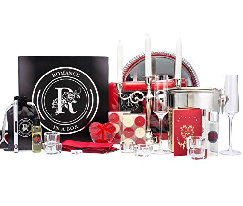 Luxury Queen Romance-in-a-Box   Romantic Gifts for Her   Anniversary Proposal Decorations   Romance Kit with Romantic Card Romantic Candles and Rose Petals