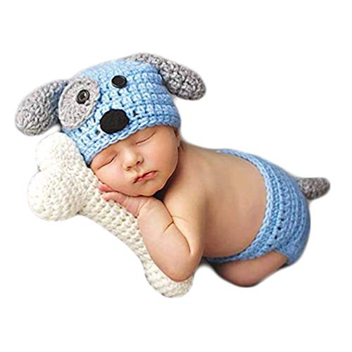 Coberllus Baby Newborn Photography Props Cute Dog Handmade...