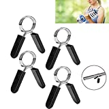 4Pack Spring Clip Collars,Shanglite 1 Inch Barbell Clamps for Locking 1 Inch Diameter Bar Clip Clamps for Dumbbell Ordinary Barbell Spring Lock Collars for Weightlifting
