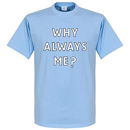 Why Always Me? Balotelli-T-Shirt Sky Blu Sky Blue