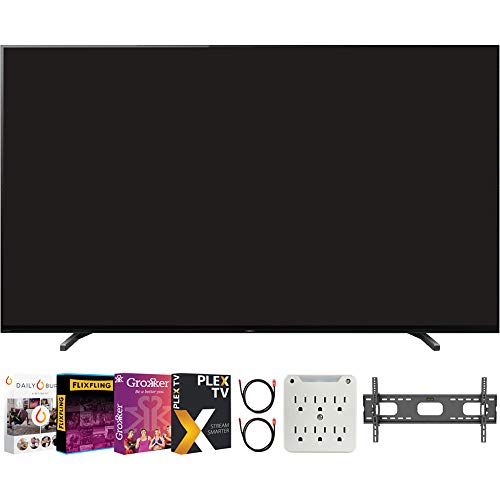 """Sony XR65A80J 65"""" A80J 4K OLED Smart TV (2021) Bundle with Premiere Movies Streaming 2020 + 37-100 Inch TV Wall Mount + 6-Outlet Surge Adapter + 2X 6FT 4K HDMI 2.0 Cable"""