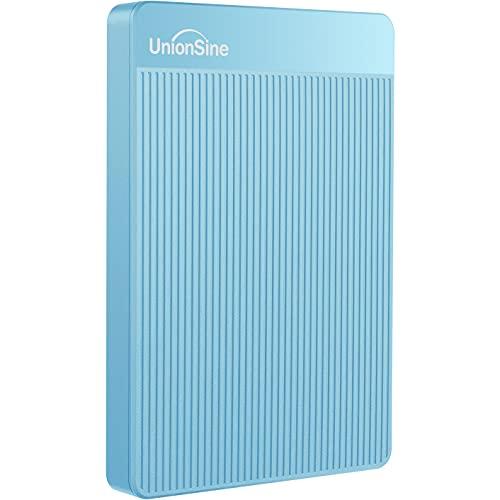 UnionSine 2,5' 1TB Ultra Slim Hard Disk Esterno Portatile USB3.0 SATA HDD Storage per PC, Mac, Desktop, Laptop, MacBook, Chromebook (Blu) HD-006