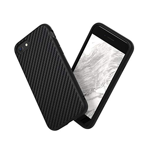 RhinoShield Case Compatible with [iPhone SE2 / SE (2020) / 8/7] | SolidSuit - Shock Absorbent Slim Design Protective Cover [11ft Drop Protection] - Carbon Fiber Texture
