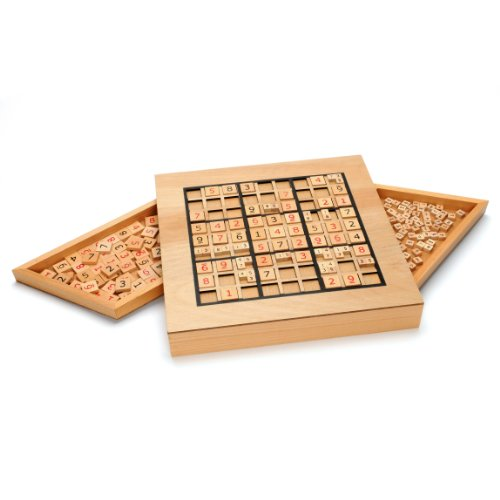 WE Games Wooden Sudoku Puzzle Board Game with Number &...