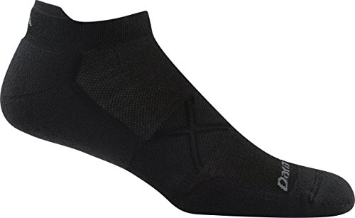Darn Tough Vertex No Show Tab Ultralight Cushion Cool Max Sock - Men's Black Large