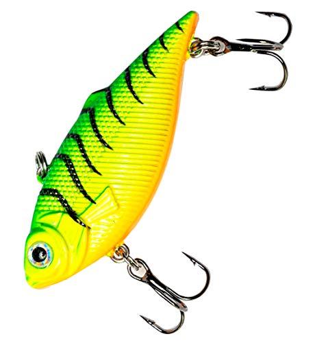Major Fish VIB - Esca vibrante Lipless Crankbait, 7 cm, per pesce persico e luccio, trota