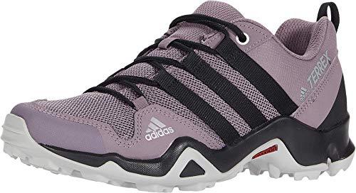 adidas outdoor Unisex-Kid's Terrex AX2R K Hiking Boot, Tech Purple/Black/Shock Red, 2 M US Little Kid