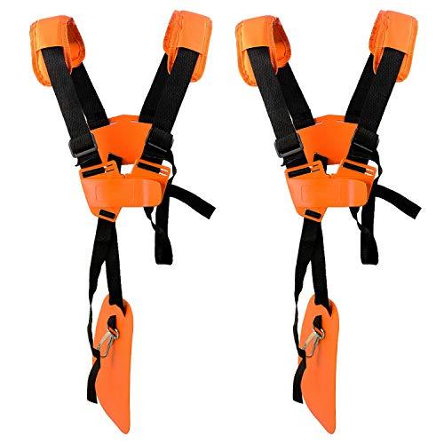 2 Pacchi Cintura Decespugliatore Universale - Tracolla Decespugliatore Professionale Trimmer Harness Strap per STIHL, Echo, Husqvarna, Shindaiwa, Honda Decespugliatore Brush Cutter.EcceteraArancia