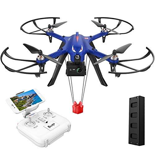DROCON Bugs 3 Potente motore brushless Quadcopter Drone, Gopro Drone ad alta velocit, per adulti e hobbisti, Support Gopro HD 4K Camera, 18 Minuti di volo 300 Metri Gamma di controllo lungo, Blu