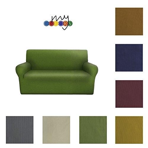 Copridivano 2 Posti Elasticizzato My Colors - da 110 a 180 cm (colore da scegliere con una mail)