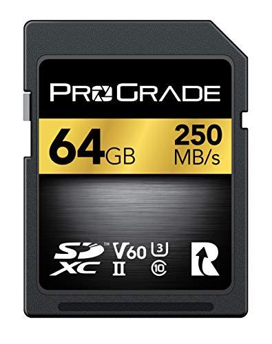ProGrade Digital (プログレードデジタル) SDXC UHS-II V60 250R メモリーカード 国内正規品 (64GB)