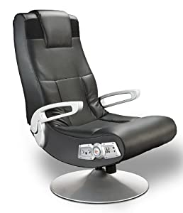 ALL PURPOSE PEDESTAL GAMING CHAIR: Faux leather lounging game chair can be used for playing video games, watching movies and TV, listening to music, reading, and relaxing. IMMERSIVE MEDIA EXPERIENCE: Chair incorporates wireless audio transmission, 2 ...