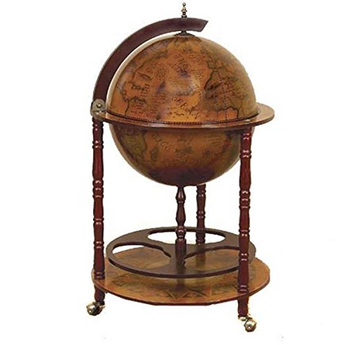 Antique Reproduction Sixteenth-century Italian Old World Globe Mini Bar