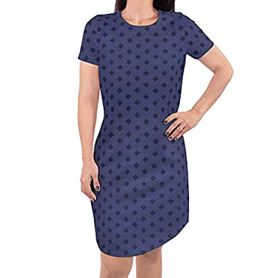 Organic cotton women's dress. Available with crew neck and v-neck options and short-sleeve and three-fourths sleeve options. Slightly fitted through body. Made with super-soft, rib-knit organic cotton blend for comfortable stretch. Dress hits above k...