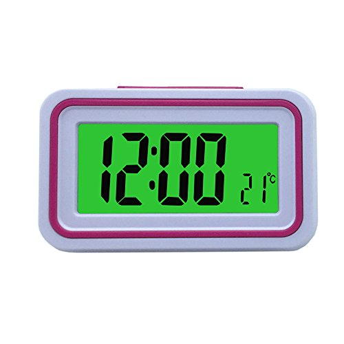 Spanish Talking LCD Digital Alarm Clock with Thermometer,...