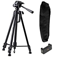 Premium finish light weight professional tripod with adjustable height, multi level locking and steady rubberized legs. Height Range: 550 mm - 1400 mm Compatible with most video cameras, digital cameras, still cameras, GoPro devices and smartphones M...