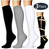 Compression Socks,(3 Pairs) Compression Sock for Women & Men - Best Medical, Nursing, for Running, Athletic, Edema, Varicose Veins