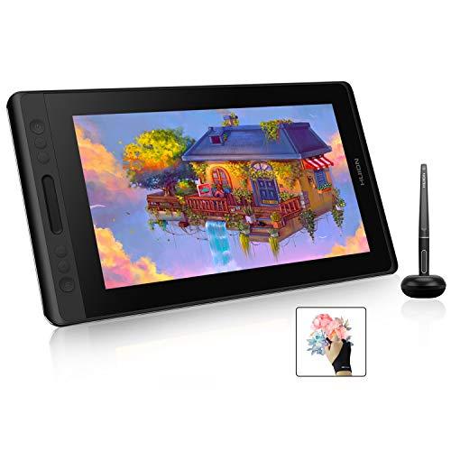 HUION Kamvas Pro 13 GT-133 Graphic Drawing Monitor 13.3 inch IPS Pen Display Tilt Function 8192 Pen Pressure Battery-Free Stylus, Full-Laminated Screen, 120% sRGB