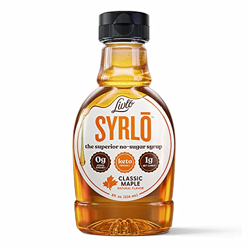 Livlo Sugar Free Keto Maple Syrup - Low Carb & Keto Friendly Pancake Syrup -1g Net Carbs & 10 Calories per Serving - Made with Allulose - Sugar Alcohol Free - Syrlō - 8oz