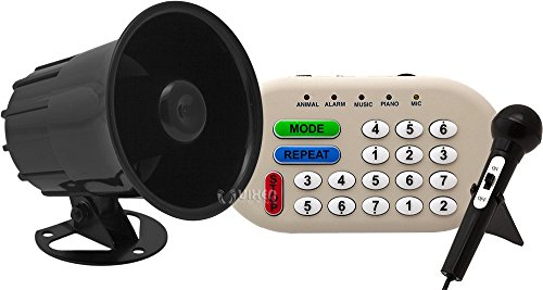 Vixen Horns VXS6200 46 Sounds (Musical/Siren/Alarm/Sound Effect/Animal) Electronic Horn and Public Announcement 12V