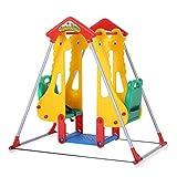 Double balançoires portique pour enfants