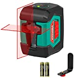 Laser Level, HYCHIKA 50 Feet Line Laser with Dual Modules, Switchable Self-Leveling Vertical and Horizontal Line, Magnetic Base,Carrying Pouch,2AA Batteries Included…