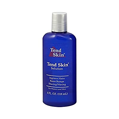 MADE IN USA - INGROWN HAIR SOLUTION: Applying a thin coat of Tend Skin Solution post shaving FOR EXISTING INGROWN HAIRS: Apply also at night independent of shaving to help clear existing unsightly ingrown hairs and razor bumps. POST WAXING: Apply Ten...