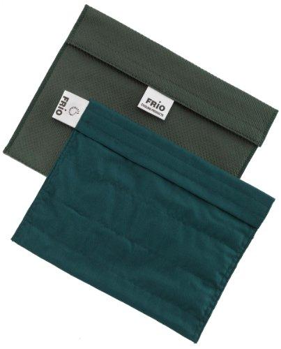 Frio - Borsa isotermica per mantenere l'insulina, verde, 21 x 15 cm