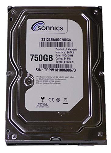 Sonnics - Hard disk SATA per sistema di videosorveglianza, 750 GB, 3,5' TVCC