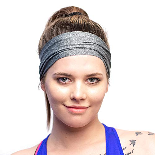 Lightweight Moisture Wicking Sports Headband - Designed for Women Borrowed by Men