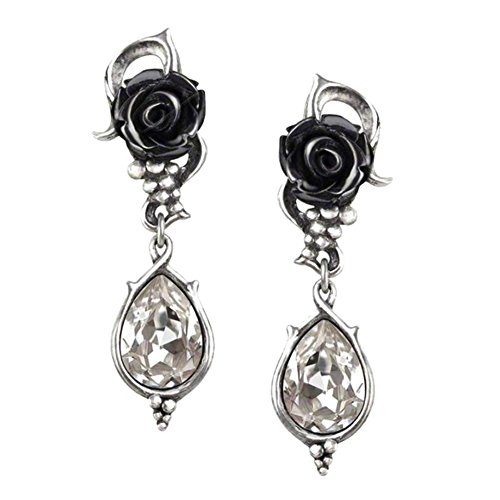 Alchemy Gothic Bacchanal Rose Pair of Earrings (Jewellery)