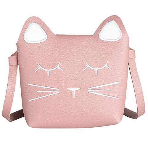 whatUneed Süße kleine Mädchen Umhängetasche Handtasche, Prinzessin Mini Taschen, Katze Cross Body Messenger Bag