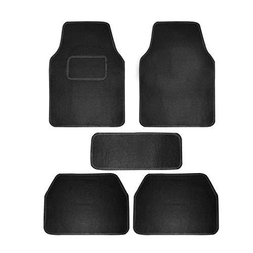 Autokraftz Universal Car Floor Mat (Set of 5, Black)