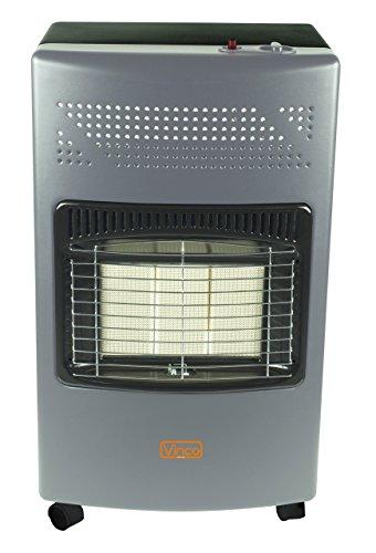 Vinco 71406 Stufa a gas con pannello infrarossi, 4200 Watt, Grigio scuro