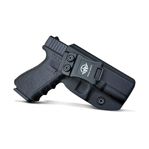 IWB Kydex Holster For Glock 19 19X Glock 23 Glock 25 Glock 32 Glock 45 (Gen 3 4 5) - Glock 19 Holster IWB - Inside Waistband Carry Concealed Holster Glock 19 IWB Pistol Case (Black, Right Hand Draw)
