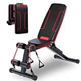 HOLATO Adjustable Weight Bench for Full Body Workout ,Foldable Workout Bench Home Gym Weightlifting and...