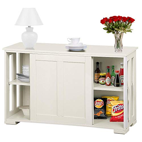 go2buy Antique White Stackable Sideboard Buffet Storage Cabinet