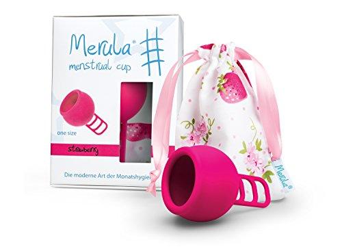 Merula Cup Strawberry (roze) | One size menstruatiecup gemaakt van medische siliconen