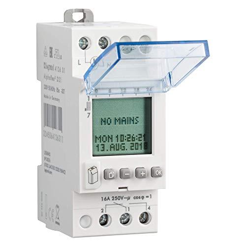 Legrand Minuterie hebdomadaire numérique 1canal Alpharex D21, 230V, 50/60Hz, 56Programmes, 412631