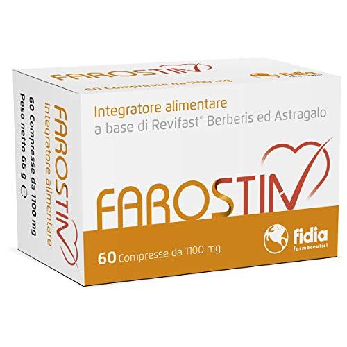 Farostin Integratore Alimentare per il controllo del colesterolo   Senza Glutine e senza Lattosio  Confezione da 60 Compresse