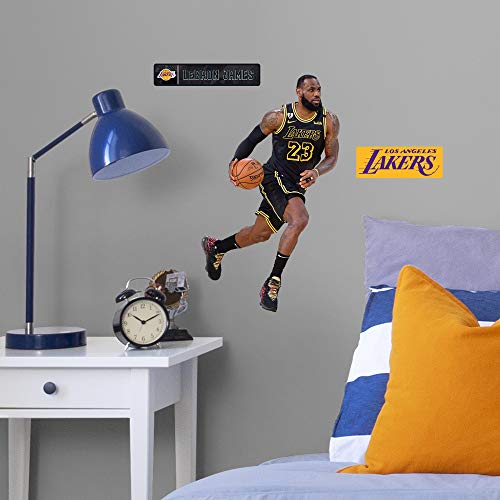Lebron James: Black Jersey - Officially Licensed NBA Removable Wall Decal