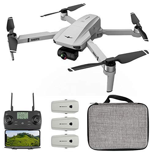 Goolsky KF102 Drone GPS RC con Fotocamera 4K Gimbal a 2 Assi 5G WiFi FPV Posizionamento Flusso Ottico Quadcopter Brushless Motor Point of Interest Waypoint Flight 3 Battery Storage Bag