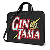 XCNGG Gintama Anime Laptop Hombro Messenger Bag Tablet Computer Storage Mochila Bolso 15.6 Pulgadas