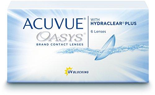 ACUVUE OASYS Kontaktlinsen – 2-Wochen-Linsen für Tag und Nacht mit -2,25 dpt und BC 8.8 – UV Schutz, Austrocknungsschutz & extrem hoher Tragekomfort – 6 Linsen