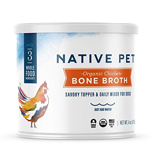 Native Pet Organic Bone Broth for Dogs and Cats -...