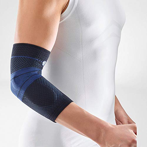 Bauerfeind - EpiTrain - Elbow Support - Targeted Compression for Chronic Elbow Pain - Size 6 - Color Black