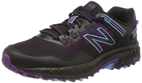 New Balance Women's 410v6 Trail Running Shoe, Black Black Purple, 6 UK